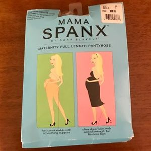 NEW Spanx Maternity Full Length Pantyhose Black C